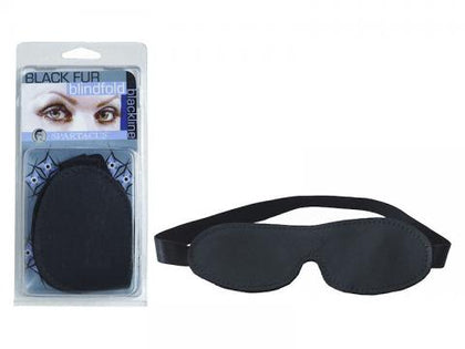 Fur Blindfold Black