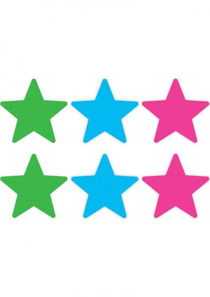 Peekaboos Pasties Neon Star 3 Pack Assorted Colors