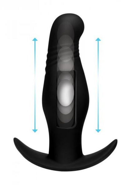 Thump It 7X Rippled Thumping Anal Plug Black