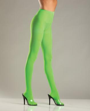 Opaque Nylon Pantyhose Green QN - Dick and Jane Adult Emporium
