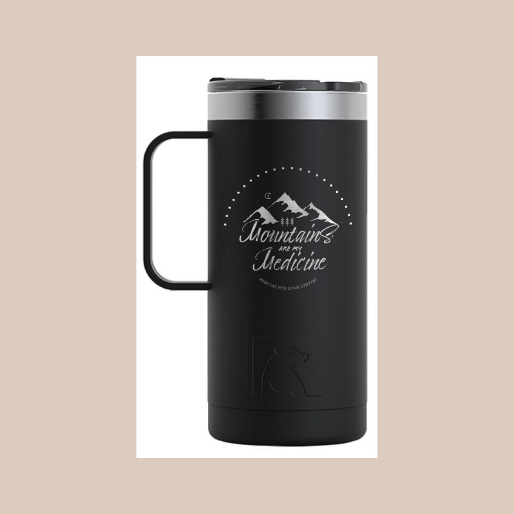 Mountains Are My Medicine Logo Coffee Mug