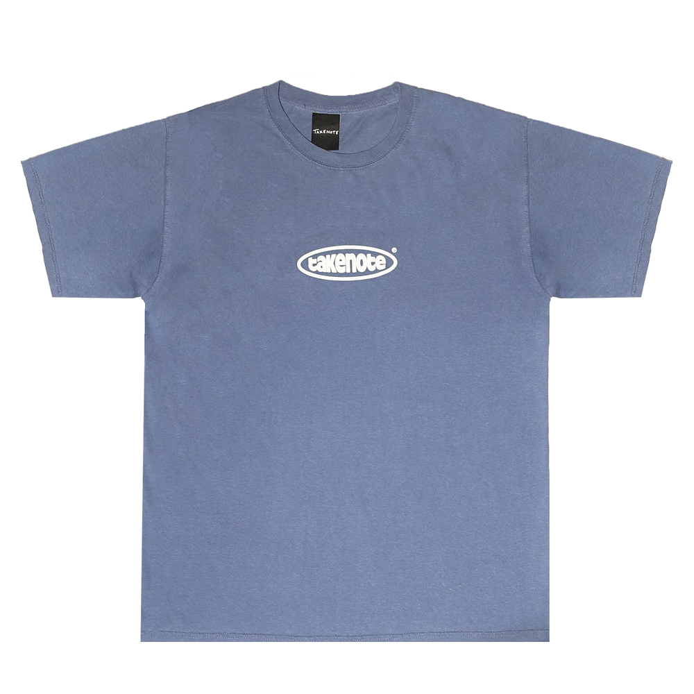 Faded Court Tee - Washed Denim