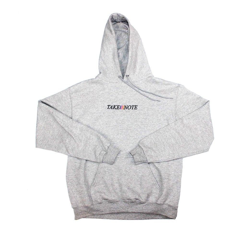 Classic Embroidered Hoodie - Heather Grey