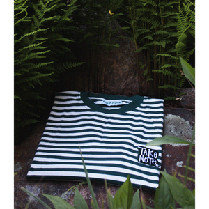 Fabrics Striped Tee - Forest/Natural