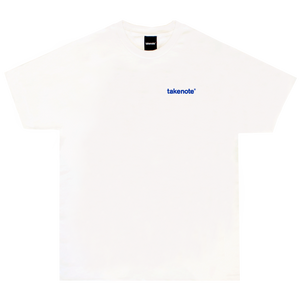 Studio Tee - White &  Deep Blue