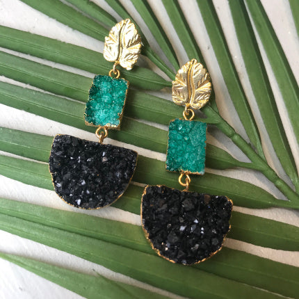 Amazonia Earrings in Druzy