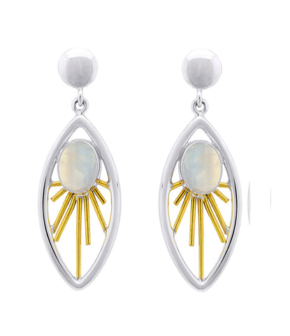 Goddess Earrings in Moonstone
