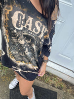 Load image into Gallery viewer, Women's Johnny Cash Band Long T-shirt