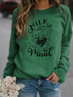 Load image into Gallery viewer, Milk Maid Mermaid Print Momlife Pullover
