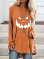 Load image into Gallery viewer, Women's Halloween Printed Long Sleeve Top