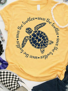 Turtle Print casual T-shirt