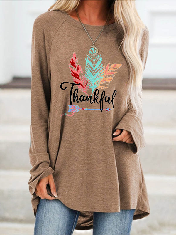 Fearless Arrow And Feathers Thankful Tshirt