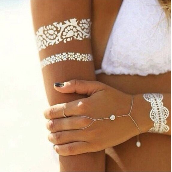 Fashion Bronzing Tattoo Stickers