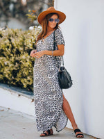Load image into Gallery viewer, Rowdy Pocketed Leopard Knit Maxi Dress