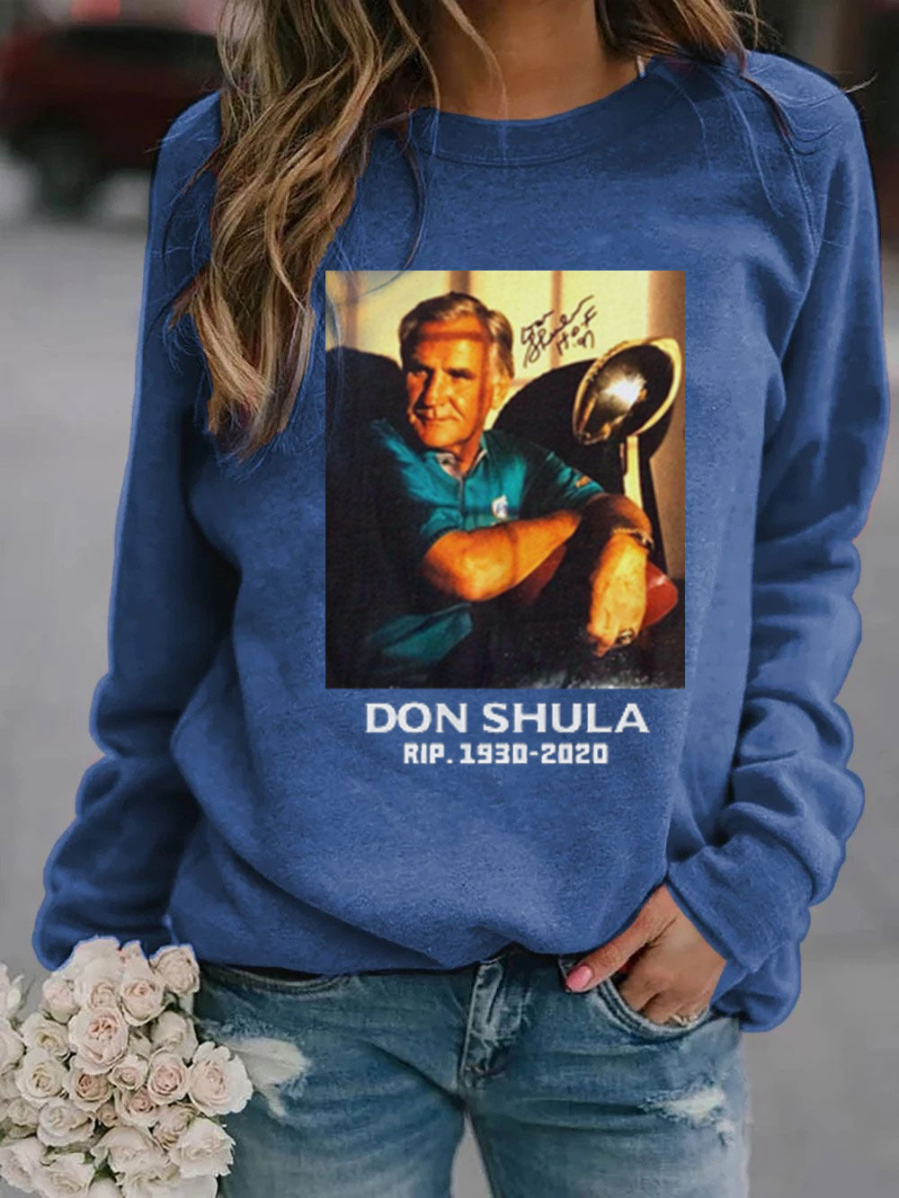 Don Shula Rip Long Sleeve Pullover