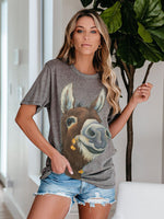 Load image into Gallery viewer, Women's Casual Animal Print T-shirt