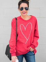 Load image into Gallery viewer, Heart Print Long Sleeve Hoodie