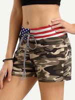 Load image into Gallery viewer, American Flag Camouflage Shorts