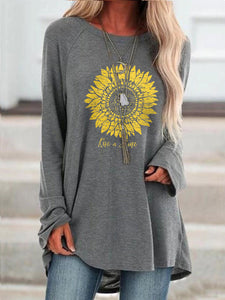 Women's Sunflower Rise and Shine Cozy T-shirt