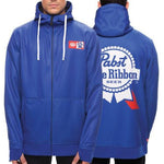 Load image into Gallery viewer, Men's Alcoholic PABST BLUE RIBBON BEER Zip Hoodie
