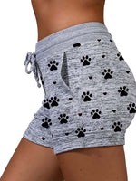 Load image into Gallery viewer, Women's Dog Paw Heart Print Shorts