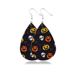 Load image into Gallery viewer, Halloween Leather Drop Earrings