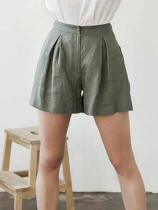 Linen Shorts For Woman