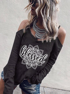 Woman Blessed Printed T-shirt