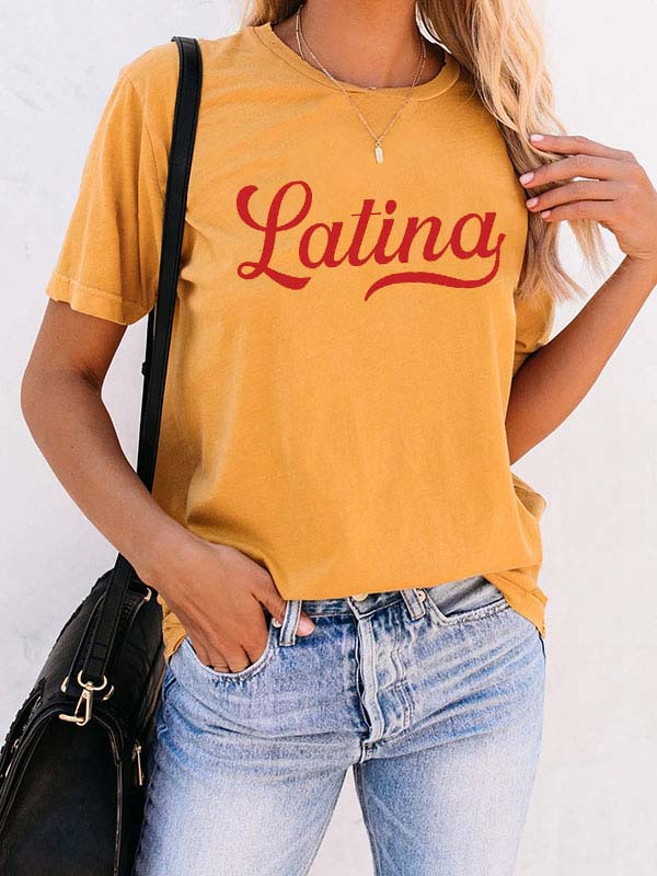 Woman's LAtina Girls Sunset T-shirt
