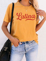 Load image into Gallery viewer, Woman's LAtina Girls Sunset T-shirt
