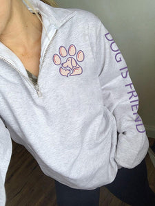 Women's Dog Paw Print Pullover