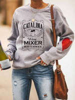 Load image into Gallery viewer, Ladies The Catalina Wine Mixer Special Guest Appearance By Huff'N Doback Presented By Prestige Worldwide Letter Printed Peach Heart Sweatshirt