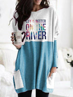 Load image into Gallery viewer, Life Is Better On The River Long Sleeve T-Shirt