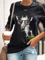 Load image into Gallery viewer, Women's Giraffe Printed Long-Sleeved Comfortable Sweatshirt