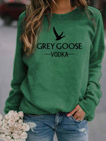 Load image into Gallery viewer, Women's GREY GOOSE VODKA Letter Print Sweatshirt