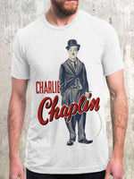 Load image into Gallery viewer, Men's Charlie Chaplin Character Print Simple Casual T-shirt