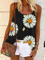 Load image into Gallery viewer, Casual Sleeveless Floral Printed Tank Tops