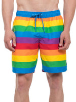 Load image into Gallery viewer, Men's Rainbow Stripes Casual Shorts