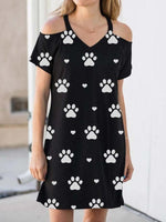 Load image into Gallery viewer, Cozy Paws Print Mini Dress