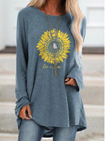 Load image into Gallery viewer, Women's Sunflower Rise and Shine Cozy T-shirt