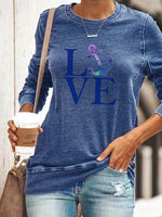 Load image into Gallery viewer, Love Anchor Print Long Sleeve Pullover