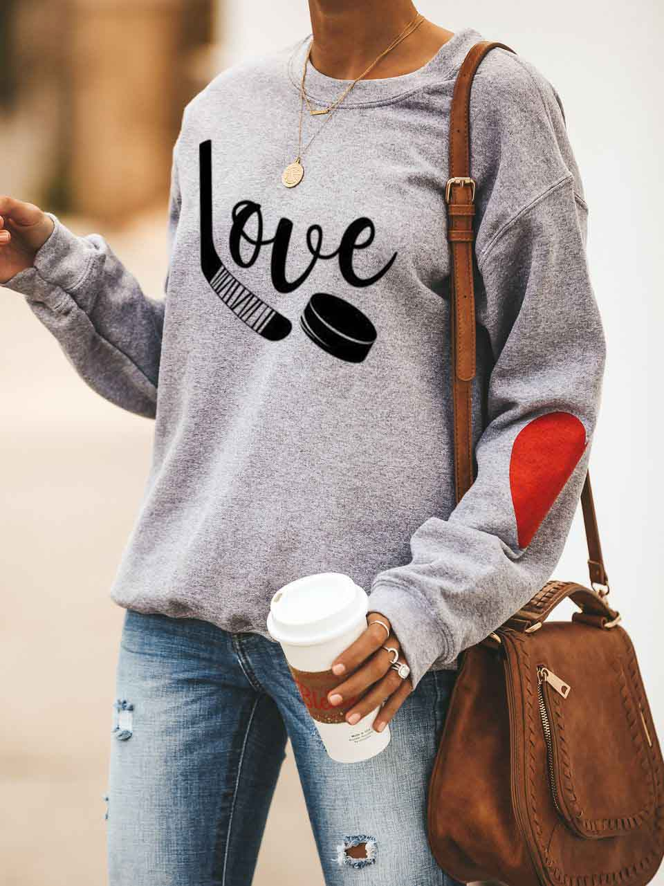 Love Hockey Long Sleeve Sweatshirt
