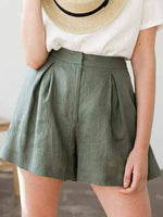 Load image into Gallery viewer, Linen Shorts For Woman