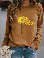 Load image into Gallery viewer, Believe With Sunflower Long Sleeve Pullover