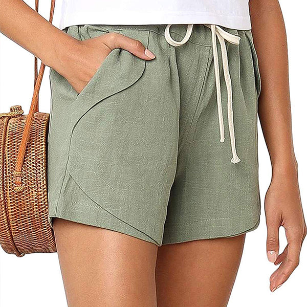 Comfy Natural Linen Cotton Beach Shorts