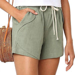 Load image into Gallery viewer, Comfy Natural Linen Cotton Beach Shorts