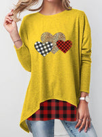 Load image into Gallery viewer, Women's Leopard Check Heart Valentine's T-Shirt