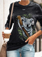 Load image into Gallery viewer, Koala Watercolour Print Long Sleeve Pullover