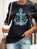 Load image into Gallery viewer, Hope Anchors The Soul Hebrews6:19 Long Sleeve Pullover