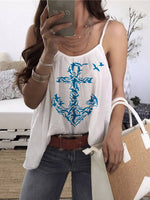 Load image into Gallery viewer, Women's Anchor Print Sleeveless Strapless Vest Top